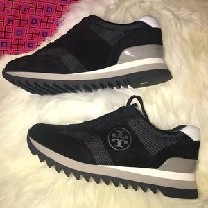 Tory Burch Sawtooth Logo Trainer Shoes